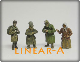 munich-Kits FHEW09 WWI Russische Bauern und Deutscher Soldat vom Landsturm