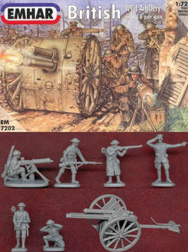EMHAR 7202 BRITISH WWI ARTILLERY+MG 1916-18