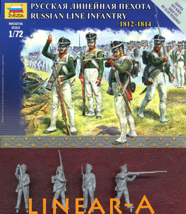 ZVEZDA 6808 RUSSIAN LINE INFANTRY - NAPOLEONIC WARS