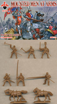 REDBOX 72045 MOUNTED MEN AT ARMS - War of the Roses Set 6
