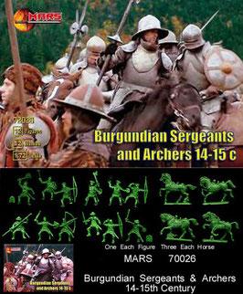 MARS 72026 BURGUNDIAN SERGEANTS / ARCHERS