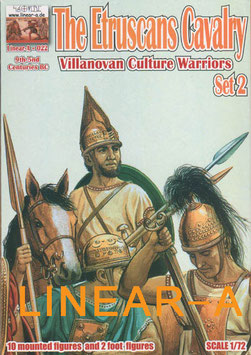 "LINEAR-A 022 The Etruscans CAVALRY ""Villanovan Culture Warriors"" 9th-5nd Centuries BC Set 2"