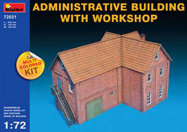 MINIART 72021  ADMINISTRATIVE BUILDING WITH WORKSHOP 1:72