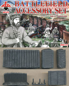 REDBOX 72073 BATTLEFIELD ACCESSORY SET 16-17 Century