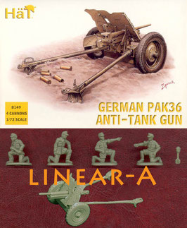 HÄT 8149 WWII German Pak36 37mm AT Gun