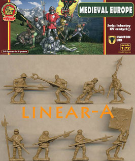 ULTIMA RATIO UR007 Swiss infantry Kanton Uri Set 1 XV Century