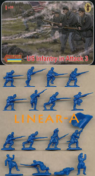 STRELETS 179 Union Infantry in Attack 3 Gettisburg