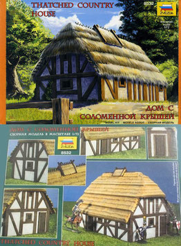 ZVEZDA 8532 European Thatched Country House