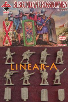 REDBOX 72124 Burgundian Crossbowmen 15th Century