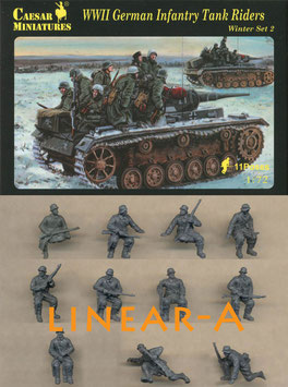 CAESAR H079 WWII GERMAN INFANTRY TANK RIDERS WINTER SET 2