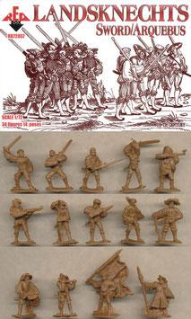 REDBOX 72057 LANDSKNECHTS - SWORD & ARQUEBUS (16th Century)