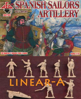 REDBOX 72104 Spanish Sailors Artillery 16-17 centry SET 3