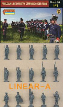 Strelets 211 Prussian Line Infantry in Summer Dress stading Order Arms
