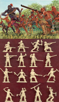 ITALERI 6061 AMERICAN WAR INDIAN WARRIORS