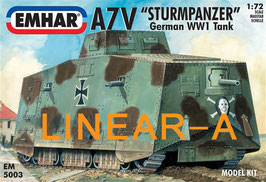 "Emhar 5003 German A7V ""STURMPANZER"" TANK WWI"