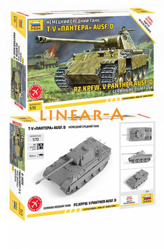 ZVEZDA 5010 Deutscher Pzkpfw. V Panther Ausf. D