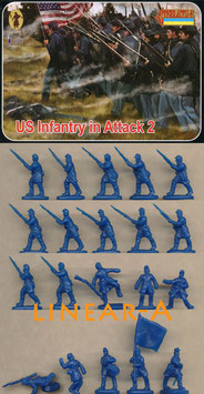 STRELETS 153 US Infantry in Attack SET 2