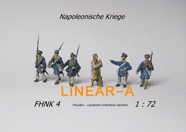 munich-Kits FHNK04 Preußische Landwehr Infantry Sachsen um 1813 Set 1