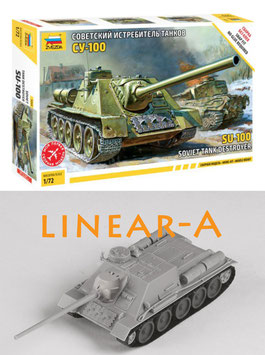 ZVEZDA 5044 SOVIET SELF PROPELLED GUN SU-100