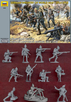 ZVEZDA 8083 GERMAN INFANTRY WWI 1914-1918
