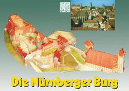 """Kartonmodell K1 breits fertig gebautes Modell """"Nürnberger Burg"""" - Secondhand"""