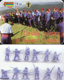 STRELETS M092 RUSSO - TURKISH WAR 1877 TURKISH LIGHT INFANTRY IN SUMMER DRESS