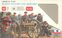 "ESCI #221 RUSSIAN INFANTRY AND ARTILLERY ""CRIMEAN WAR"" - Secondhand"