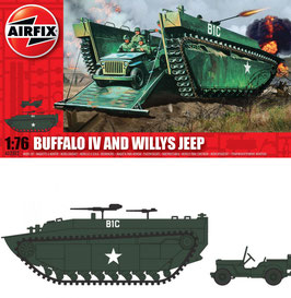 AIRFIX A02302  Buffalo IV and Willys Jeep 1:76