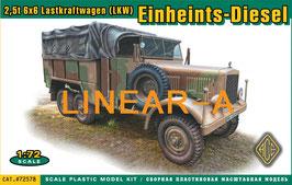 ACE 72578 Einheints-Diesel Pritschenwagen (2,5t 6x6 LKW)