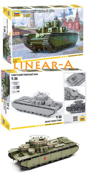 ZVEZDA 5061 WWII T-35 Soviet Heavy Tank