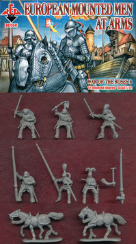 REDBOX 72047 European Mounted Men at Arms War of the Roses SET 8