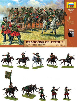 ZVEZDA 8072 DRAGOONS OF PETER I. THE GREAT 1701-1721