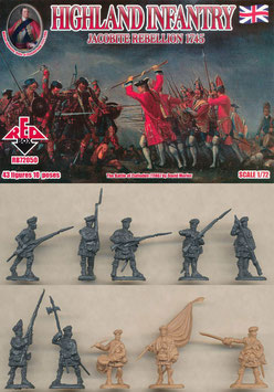 REDBOX 72050 JACOBITE REBELLIONS HIGHLAND INFANTRY