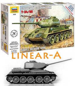 ZVEZDA 5039 T-34/85 SOVIET MEDIUM TANK