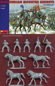 MINIART 72006 BURGUNDIAN MOUNTED KNIGHTS