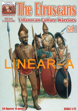 "LINEAR-A 014 The Etruscans ""Villanovan Culture Warriors"" 9th-5nd Centuries BC Set 1"
