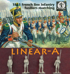 WATERLOO AP061   1815 French Line Infantry Fusiliers Marching
