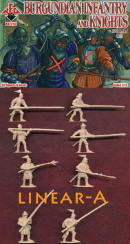 REDBOX 72110 Burgundian infantry and knights 15 century SET 2