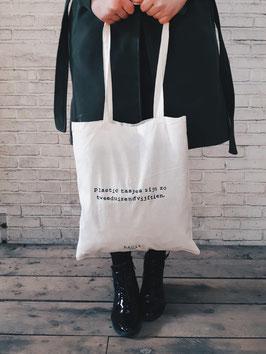 plastic tasjes zijn zo tweeduizendvijftien.