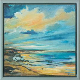 """""""Weiter Strand"""" Original Acrylbild auf Leinwand"""