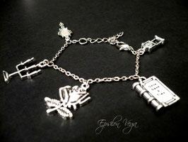 Bracelet charms La Belle et la Bête