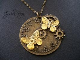 Sautoir steampunk papillons