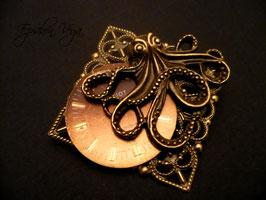 Broche Octopus bronze