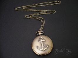 Montre pendentif ancre marine