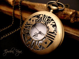 Montre pendentif Alice in Wonderland