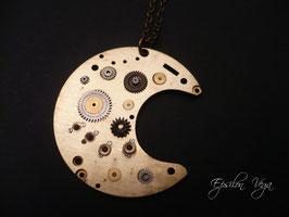Collier sautoir lune laiton