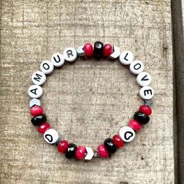 Amour Love Armband Wunschtext möglich