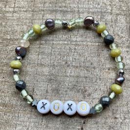 Xoxo Kiwi Armband - Wunschtext möglich