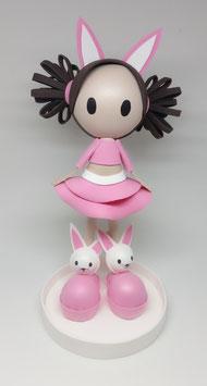 Zoé coneja rosa