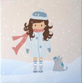 Zoé en la nieve